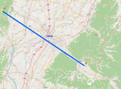 見通し25Km 地図