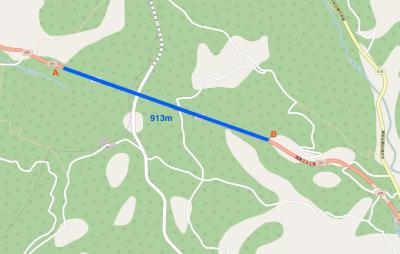 中山トンネル地図