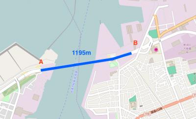 みなとタワー地図1195m